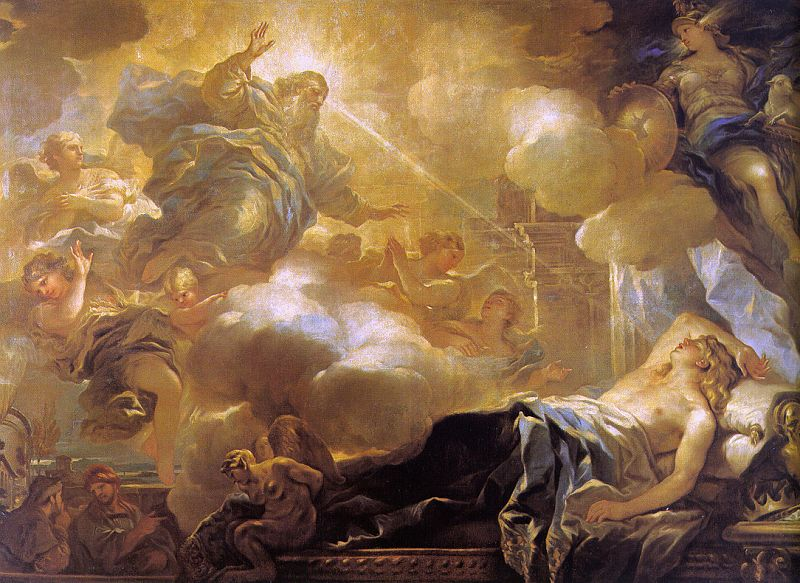 Giordano, Luca (Italian, 1632-1705) - The Dream of Solomon, 1693, Museo del Prado, Madrid
